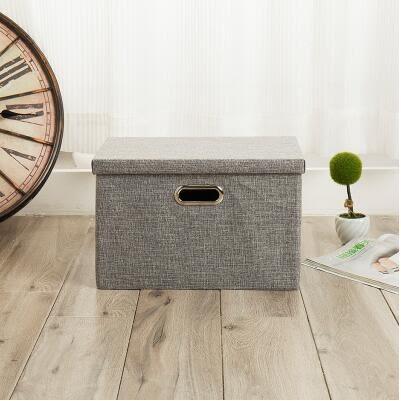 收納箱百納箱整理箱衣櫃儲物箱折疊收納盒    中號38*25.5*25cm