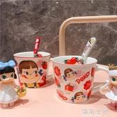卡通牛奶妹馬克杯 可愛少女心草莓陶瓷水杯咖啡杯子禮物 海角七號