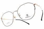 SEROVA光學眼鏡 SL398 C07 (黑-玫瑰金) 多邊造型金屬框款 眼鏡框 #金橘眼鏡