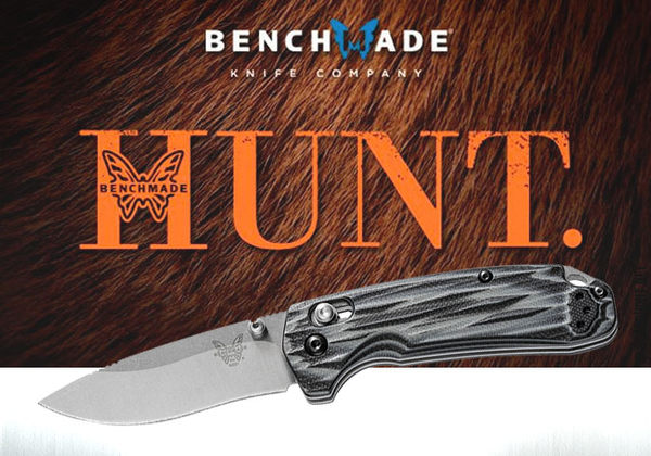 Benchmade 狩獵系列-北叉牧場木柄折刀(G-10握柄) - #BENCH 15031-1