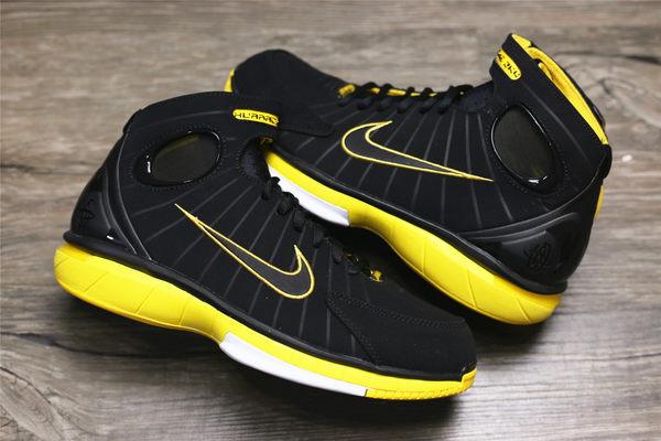 Nike Air Zoom Huarache 2K4 黑黃 好萊屋之夜 kobe【布魯克林】2016 6月 308475-003
