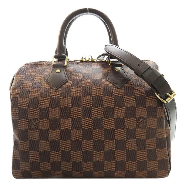 LOUIS VUITTON LV 路易威登 棋盤格手提波士頓包(附背帶) Speedy Bandouliere 25 N41368 【二手名牌BRAND OFF】