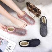網紅雪地靴女鞋冬季新款加絨棉鞋子一腳蹬平底短筒學生女靴子 8號店