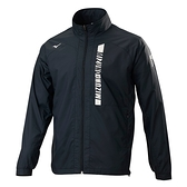 MIZUNO 男裝 外套 套裝 立領 夾克 防風 防潑水 刷毛 保暖 拉鍊口袋 黑【運動世界】32TE158209