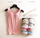88柑仔店--帶胸墊罩杯運動瑜伽背心 女無鋼圈免文胸 打底衫(A0603)