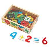 【美國 Melissa & Doug】磁力 數學數字木質磁鐵貼 #MD449