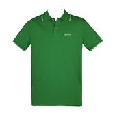 【南紡購物中心】ARMANI JEANS 經典刺繡LOGO滾邊短袖POLO衫-綠