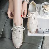 春夏季牛津鞋 女新款韓版學院粗跟復古百搭英倫風 LR2795【VIKI菈菈】