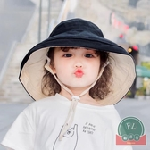 寶寶薄款盆帽夏季防曬兒童遮陽帽大檐帽子【福喜行】