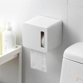 面紙盒紙巾盒壁掛式捲紙巾盒浴室廁所抽紙盒簡約防水免打孔紙巾架 一件82折