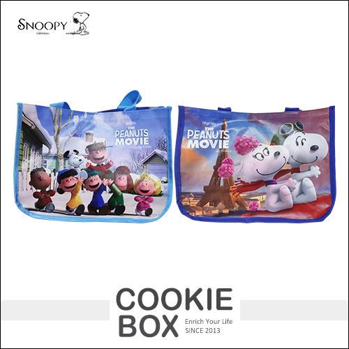 正版 史努比 Snoopy 橫式 萬用袋 學生 上學 手提袋 補習袋 才藝袋 飛行員 夢想起飛 電影 *餅乾盒子*