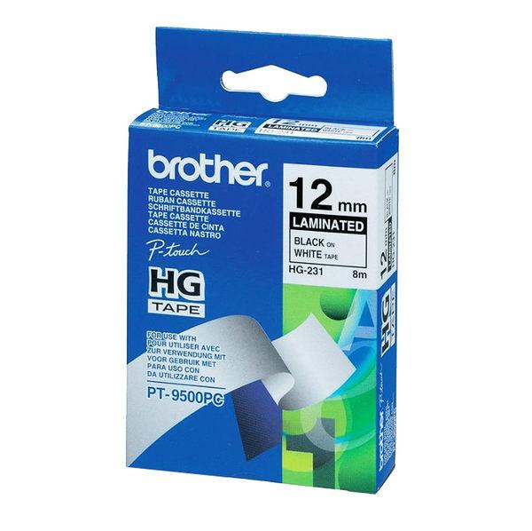 Brother HG-231 白底黑字 原廠高速列印標籤帶 適用PT-1280/2430/2700/9500/9700/9800