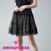 【SHOWCASE】網紗蛋糕澎澎短裙(黑)