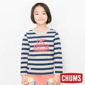 CHUMS 日本 童 Booby 長袖T恤 海軍條紋 CH211043N050