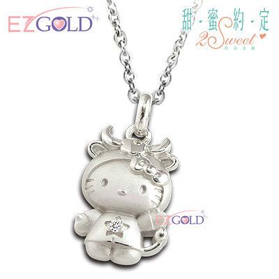 Hello Kitty凱蒂貓-金牛座(4/20~5/20)-星座銀飾墜子