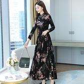 旗袍改良版連衣裙2021年新款長袖高端氣質高貴大碼媽媽裙子女春秋 錢夫人 夏季特惠