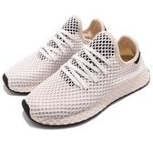 adidas 休閒鞋 Deerupt Runner W 米白 黑 女鞋 網格設計 運動鞋【PUMP306】 CQ2913