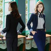 西裝外套女時尚氣質小西服修身面試正裝女士ol工裝工作服-小精靈生活館