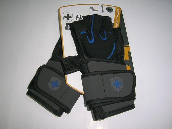 [線上體育] L12714125022 Harbinger Training男M重訓/黑藍護腕手套