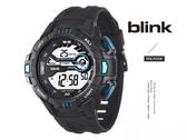 【完全計時】JAGA 捷卡 blink M1081-AE 撼動運動型多功能電子錶 黑藍 53mm 時尚運動首選