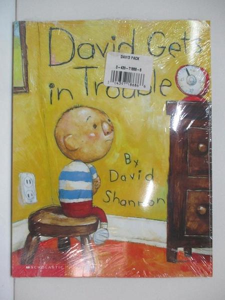 【書寶二手書T1/少年童書_FM6】NO David!_David Gets in Trouble_2本合售_David Shannon