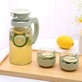歐式玻璃冷水壺涼水壺大容量晾水壺杯套裝wy【快速出貨八折優惠】