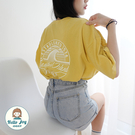 【正韓直送】英字潮流印花短袖上衣 1色 情侶T 素T 短袖T恤 哈囉喬伊 G79