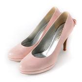 DeSire 注目耀眼立體蝴蝶結尖頭跟鞋  -淺粉