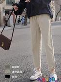 直筒褲 日系老爹褲直筒工裝褲夏季哈倫褲休閒褲子女寬鬆春秋顯瘦百搭薄款 寶貝 免運