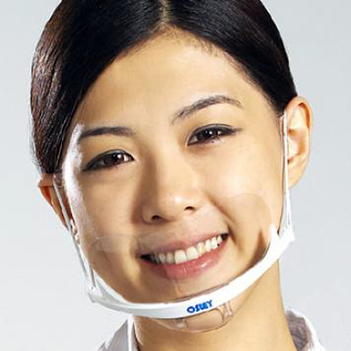 金德恩【香港OSLEY奧世力】微笑透明口罩(10入一盒)+補充膠片(10片/包)