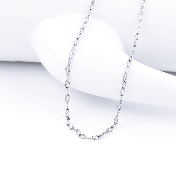 316L醫療鋼項鍊 雪花車花雙瓦片 純鏈子-銀 防抗過敏 不退色