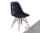 {{ 海中天休閒傢俱廣場 }} G-25 摩登時尚 餐椅系列 930-15 迪妮黑皮餐椅