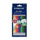 STAEDTLER MS14450NC12可擦式色鉛筆12色紙盒裝