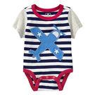 直升機 飛機 棉質貼布短袖連身包屁衣 短袖  橘魔法Baby magic  現貨 兒童 童裝