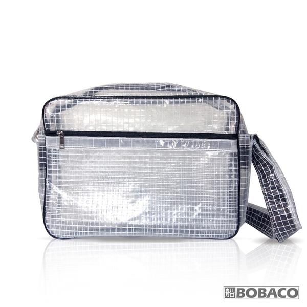 【反光條透明網格側背包-白】SE-511BK 高科技產業 斜背包 肩背包 工具包 工作包 抗靜電無塵室包