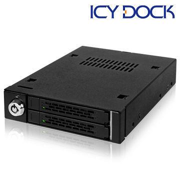 [NOVA成功3C]ICY DOCK MB992SK-B 雙層2.5吋SATA硬碟抽取盒