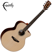 Faith FJCEHG 嚴選英格曼雲杉木面板 42吋民謠吉他-全單板/ 缺角造型/ 拾音器Shadow Nanoflex