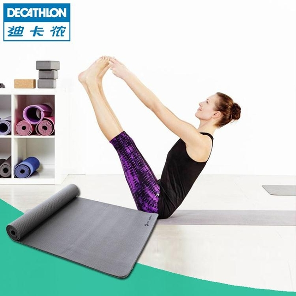迪卡儂瑜伽墊女加寬加長初學者男運動健身家用墊防滑健身墊YOGAYATF 探索先鋒