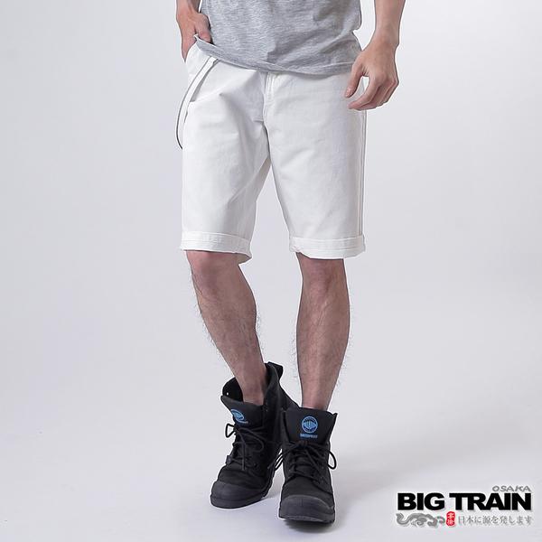 Big Train BT配繩短褲-男-牙白-白色-B5013981