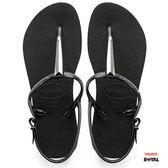 Havaianas 哈瓦士 新竹皇家 FreedomSLMaxi 黑色 金屬 人字鞋 女款 NO.H2149