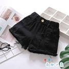 女童牛仔短褲中大童夏季時尚外穿褲子【奇趣小屋】