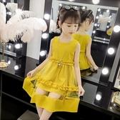女童洋裝 2020新款寶寶韓版小女孩夏季洋氣兒童連身裙女公主裙 中秋節