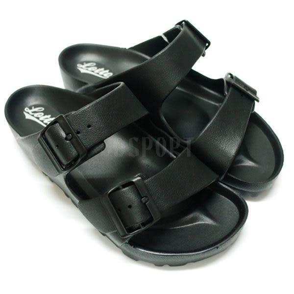 Lotto 樂得 EVA 男女鞋 黑色 經典勃肯拖鞋 輕量 防水 台灣製 AIRWALK Birkenstock Arizona LT6AWS3800