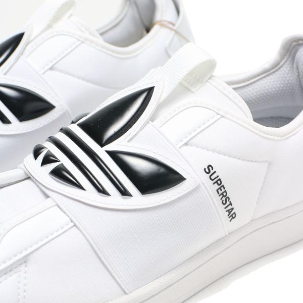 ADIDAS 休閒鞋 SUPERSTAR 白 三葉草 繃帶 免綁帶 女 (布魯克林) GZ8399