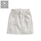 【Roush】 女生柔棉水洗牛仔短裙 -【9800】