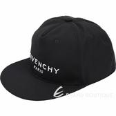 GIVENCHY PARIS 品牌字母刺繡帆布棒球帽(黑色)1930054-01