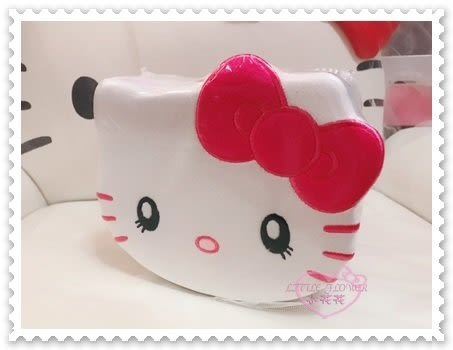 ♥小花花日本精品♥ Hello Kitty 大臉 蝴蝶結 粉色絨毛餅乾盒 15枚餅乾 日本大阪限定 96511800