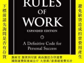 二手書博民逛書店The罕見Rules Of Work Expanded Edition: A Definitive Code Fo