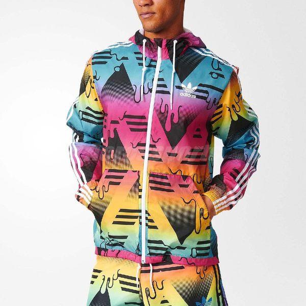 adidas Itasca WB 連帽 外套 彩色 幾何 融化 男款【PUMP306】 AJ6973