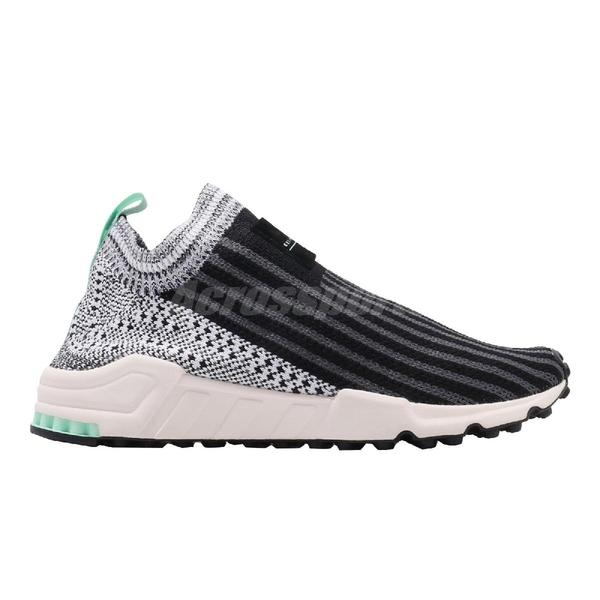 【海外限定】adidas 休閒鞋 EQT Support Sock Primeknit 黑 白 女鞋 編織鞋面 運動鞋【PUMP306】 B37528
